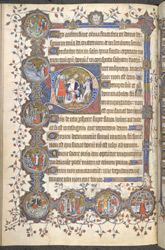 The Disbelieving Fool (Psalm 52 / 53), in the St.-Omer Psalter